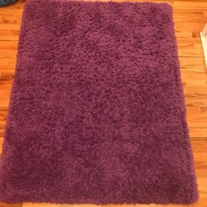 Other - Fuzzy/faux fur purple rug great for any space!